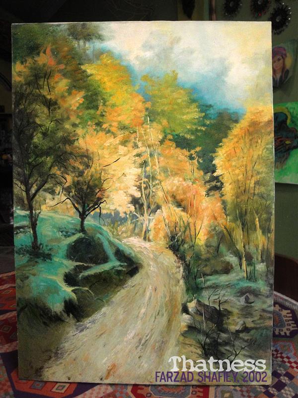 هنر نقاشی و گرافیک محفل نقاشی و گرافیک فرزاد شفیعی منظره 1378 Oil on canvas, 2002 رنگ و روغن روی بوم 50*70 cm ٭کپی
