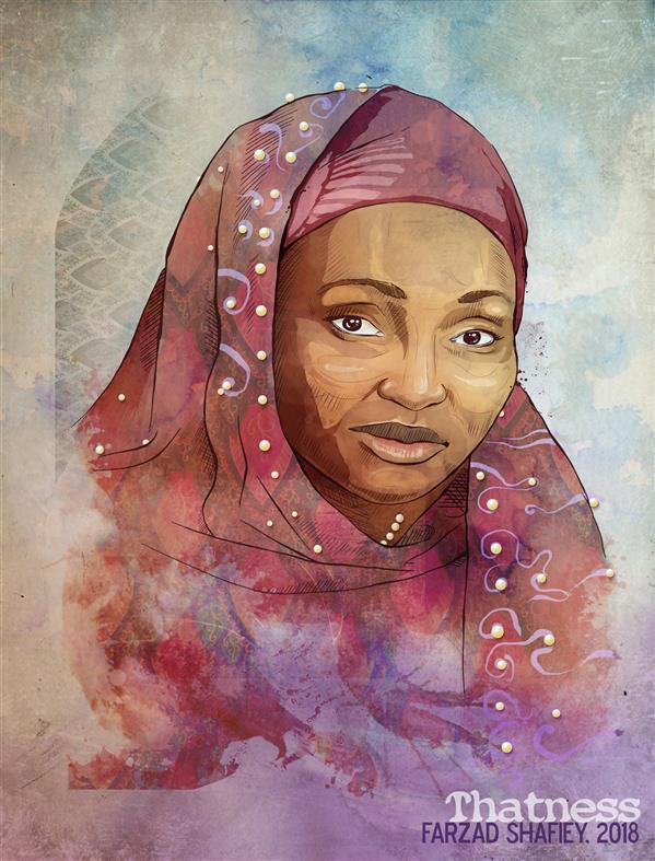 هنر نقاشی و گرافیک محفل نقاشی و گرافیک فرزاد شفیعی (African Artist) Hauwa Gombe  هنرمند آفریقایی، هاوا گمبی 2018 #دیجیتال #Thatness