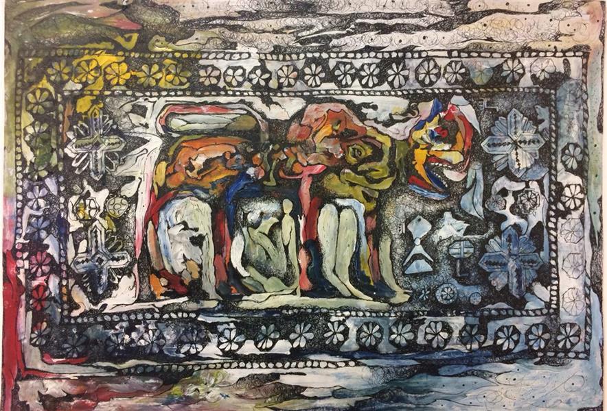 هنر نقاشی و گرافیک محفل نقاشی و گرافیک الهام بیک نژاد آکرلیک و روانویس ٢٩*٤٢
