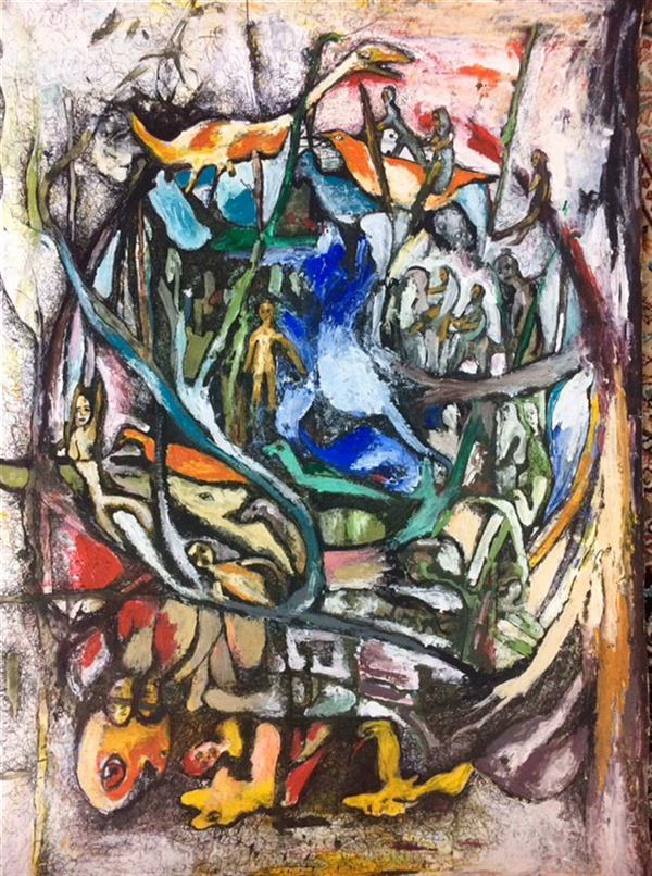 هنر نقاشی و گرافیک محفل نقاشی و گرافیک الهام بیک نژاد ۵۰*۷۰ آکرلیک و روانویس روی مقوا