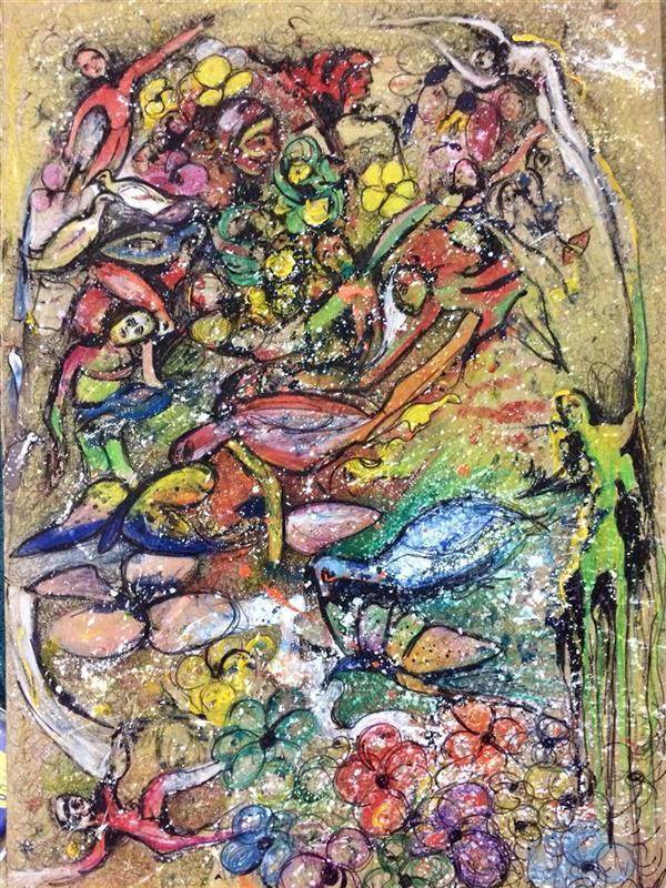 هنر نقاشی و گرافیک محفل نقاشی و گرافیک الهام بیک نژاد آکرلیک،روانویس،مدادرنگی روی مقوا  اندازه ٥٠*٧٠