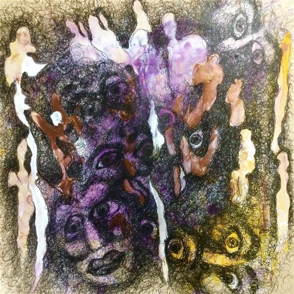 هنر نقاشی و گرافیک محفل نقاشی و گرافیک الهام بیک نژاد ٢٩.٢٩ آکریلیک و روانویس روی کاغذ