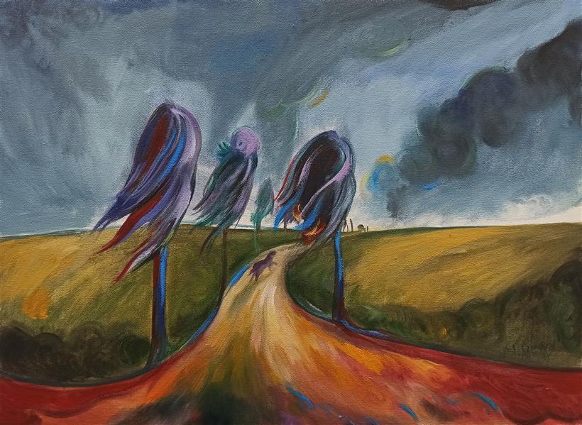 هنر نقاشی و گرافیک محفل نقاشی و گرافیک هادی خانی رنگ روغن روی بوم دیپ.  از مجموعه طبیعت حیران