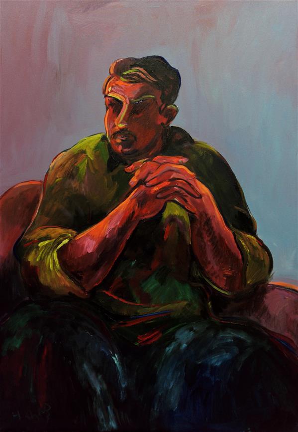 هنر نقاشی و گرافیک محفل نقاشی و گرافیک هادی خانی هنرمند: هادی خانی اکریلیک روی بوم سال خلق اثر: 1399  .  تمام نقاشی های خانی، ذهن انسان امروز را نشان می دهد، نوعی پراکندگی و شکستگی و مبارزه با تاریکی و نور است، این احساسات در افکار همه ما وجود دارد و در طول زندگی ما ساخته می شود. هر یک از نقاشی های هادی خانی می تواند مانند بیوگرافی یک شخص باشد.                      داتیس گلمکانی۱۳۹۹ . . #art#هنر#هنرمند#artist#artwork#اکریلیک#رنگ#artist
