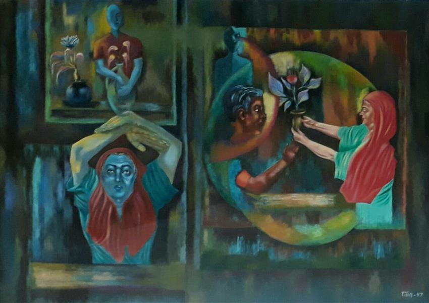 هنر نقاشی و گرافیک محفل نقاشی و گرافیک  عادل طبری #اکریلیک روی مقوا . ابعاد ۵۰×۷۰