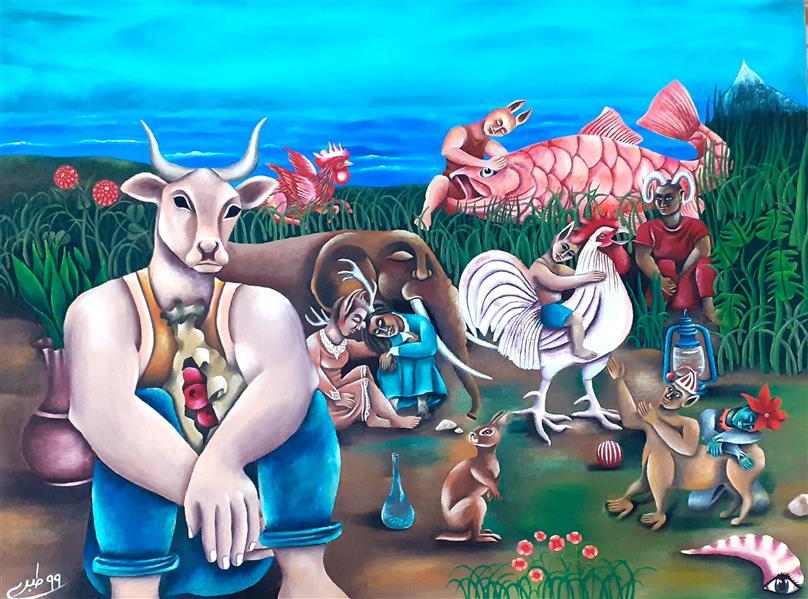 هنر نقاشی و گرافیک محفل نقاشی و گرافیک  عادل طبری عادل طبری از مجموعه ی #صورِ_خیال تکنیک اثر : اکریلیک روی مقوا سال خلق اثر ۱۳۹۹