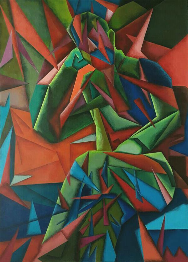 هنر نقاشی و گرافیک محفل نقاشی و گرافیک  عادل طبری #ساختارگرایی#اکریلیک روی مقوا . ابعاد ۷۰×۵۰ #فروخته_شد