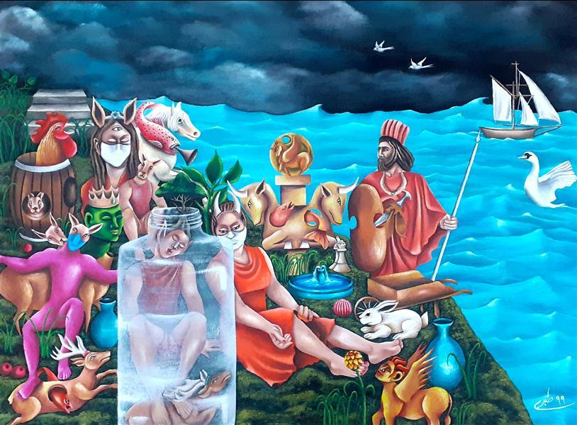 هنر نقاشی و گرافیک محفل نقاشی و گرافیک  عادل طبری عادل طبری از مجموعه ی #صورِ_خیال تکنیک اثر : اکریلیک روی بوم سال خلق اثر : ۱۳۹۹