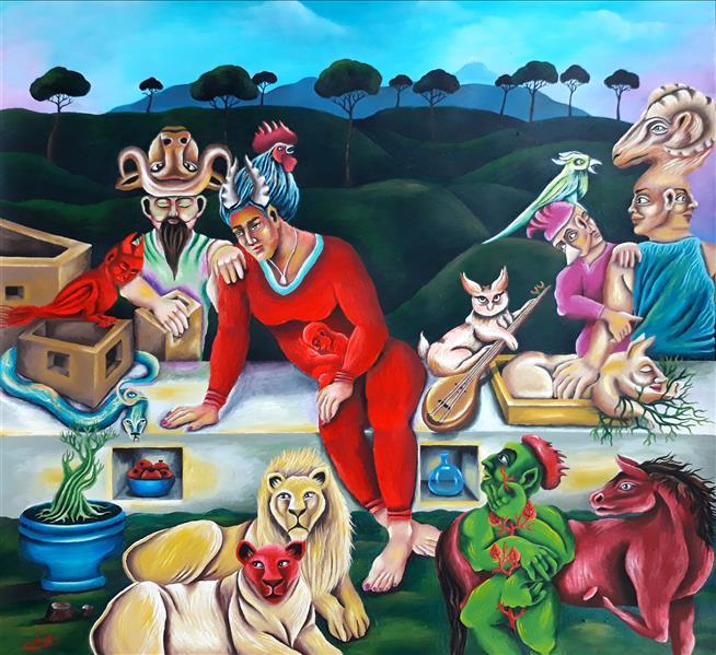 هنر نقاشی و گرافیک محفل نقاشی و گرافیک  عادل طبری عادل طبری از مجموعه ی #صورِ_خیال  اکریلیک روی مقوا سال خلق اثر : ۱۴۰۰