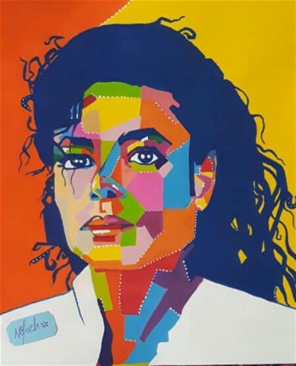 هنر نقاشی و گرافیک محفل نقاشی و گرافیک نفیسه امیری  #گواش#آبرنگ#پاپ_آرت #مایکل_جکسون#نفیسه_امیری :(: