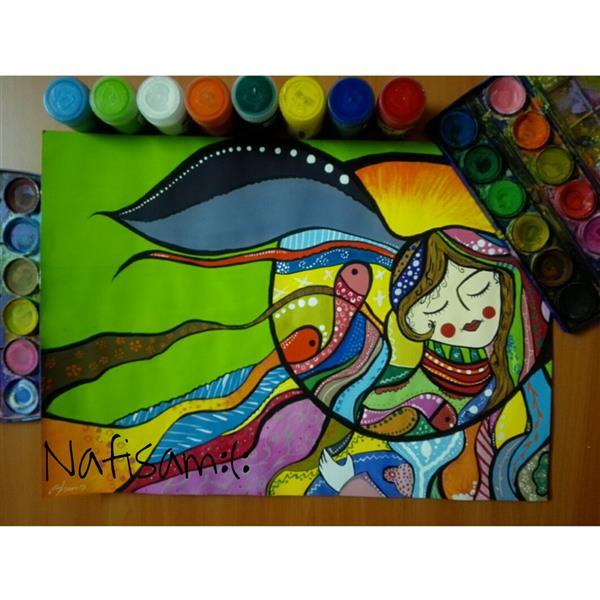هنر نقاشی و گرافیک محفل نقاشی و گرافیک نفیسه امیری  #تصویرسازی#گواش#آبرنگ#نفیسه_امیری  :(: