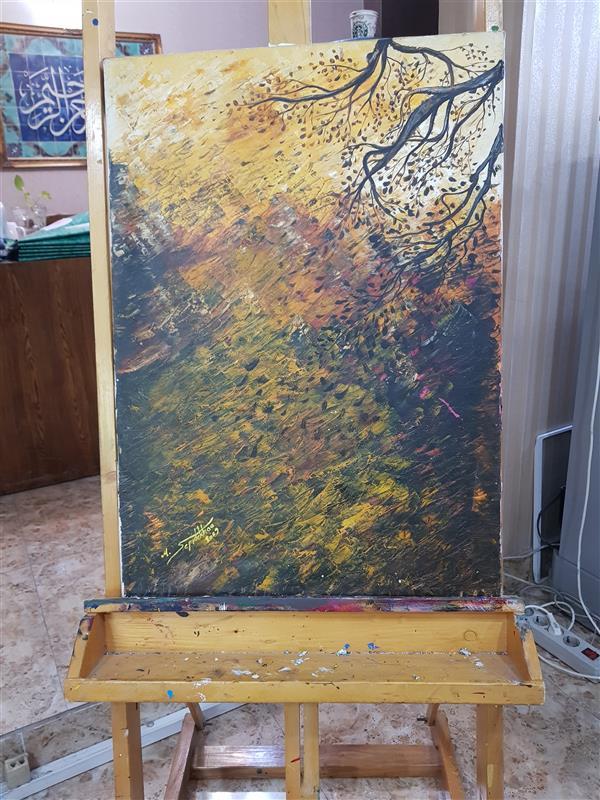 هنر نقاشی و گرافیک محفل نقاشی و گرافیک مرجان سپیده خو نام اثر: #باد پاییز ابعاد: 50×70
