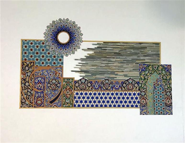 هنر نقاشی و گرافیک محفل نقاشی و گرافیک محمد رضا نیازی تذهیب ترکیب بندی