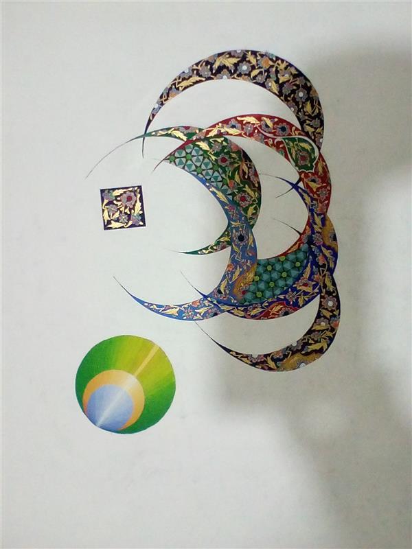 هنر نقاشی و گرافیک محفل نقاشی و گرافیک محمد رضا نیازی تذهیب معاصر