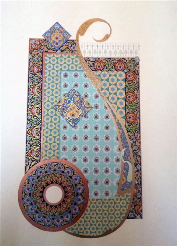 هنر نقاشی و گرافیک محفل نقاشی و گرافیک محمد رضا نیازی تذهیب