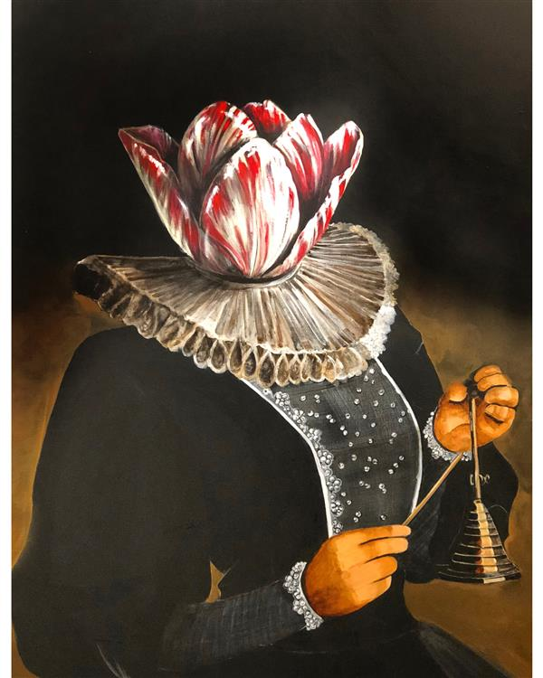 هنر نقاشی و گرافیک محفل نقاشی و گرافیک ارغوان مناجاتی تکنیک اکرلیک  ابعاد ٧٠*١٠٠