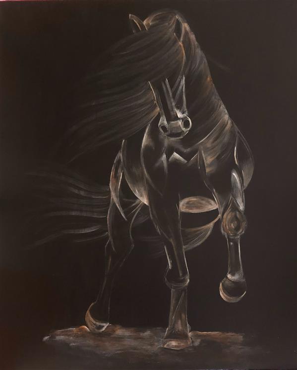 هنر نقاشی و گرافیک محفل نقاشی و گرافیک ارغوان مناجاتی تکنیک اکرلیک  ابعاد ١٠٠*٧٠