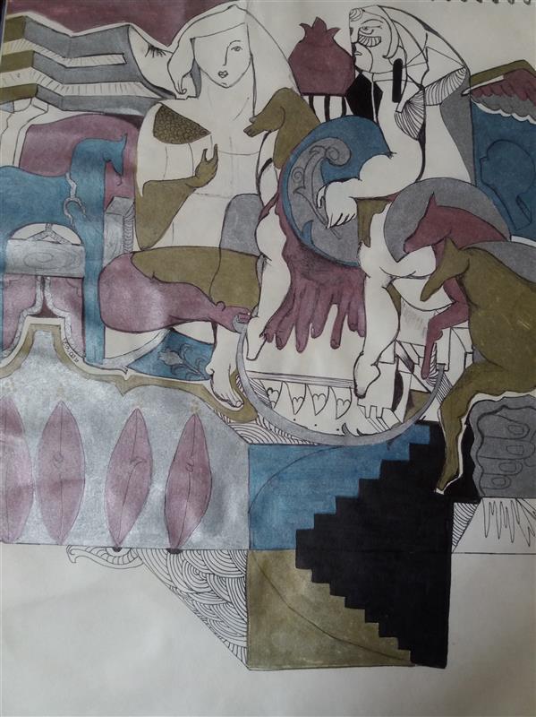 هنر نقاشی و گرافیک محفل نقاشی و گرافیک Azanazi نقاشی متافیزیک (دونات )گفته میشود  که زیاد میکشم هدیه میدم دوستان   حالا بفرشم حتی به قیمت کم  ۳۴×۲۴