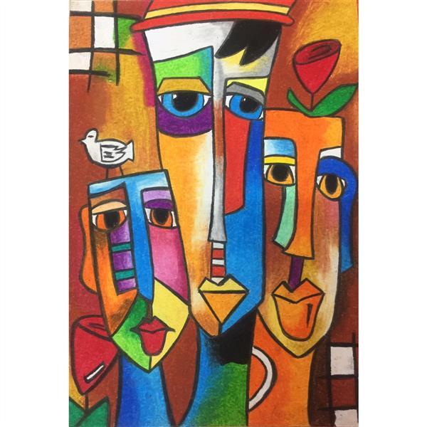 هنر نقاشی و گرافیک محفل نقاشی و گرافیک Hadis hooshmand #cubism#newart#romantic