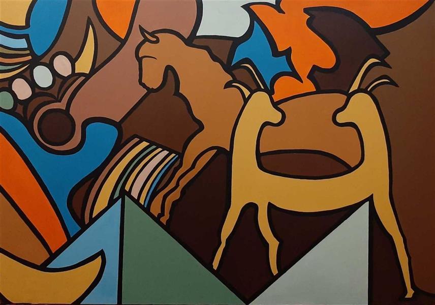 هنر نقاشی و گرافیک محفل نقاشی و گرافیک مهناز وزیری نام اثر: کهن الگو نام هنرمند: مهناز وزیری #اورجینال#مدرن#ذهنی نقاشی دیواری اکرلیک روی بوم مناسب برای لابی و فضاهای هنری