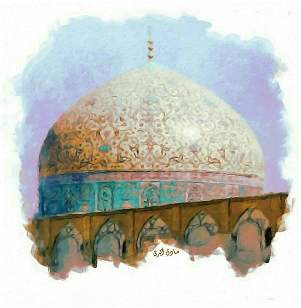 هنر نقاشی و گرافیک محفل نقاشی و گرافیک صادق اکبری عنوان:مسجد شیخ لطف الله-اصفهان