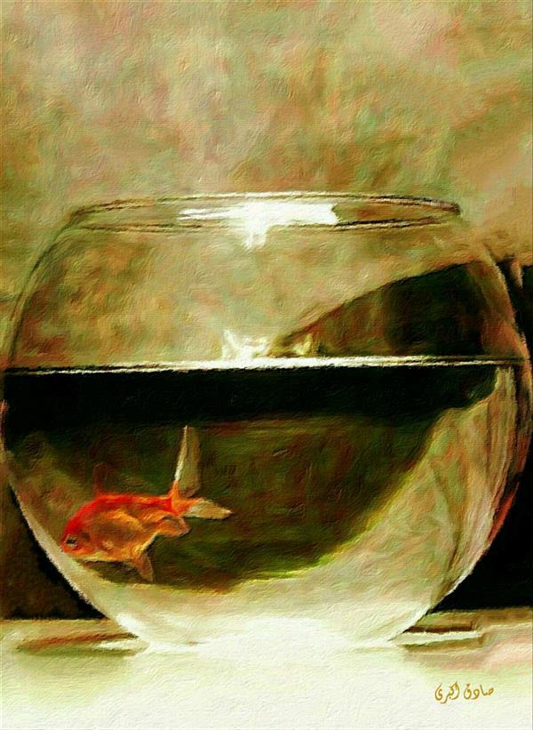 هنر نقاشی و گرافیک محفل نقاشی و گرافیک صادق اکبری عنوان:تنهایی به رنگ قرمز
