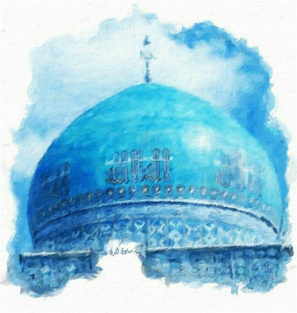 هنر نقاشی و گرافیک محفل نقاشی و گرافیک صادق اکبری عنوان:مسجد گوهر شاد-مشهد