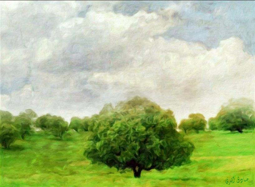 هنر نقاشی و گرافیک محفل نقاشی و گرافیک صادق اکبری عنوان:بهار