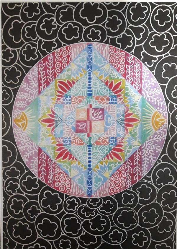هنر نقاشی و گرافیک محفل نقاشی و گرافیک فاطمه خونمری #مداد رنگی 50×70