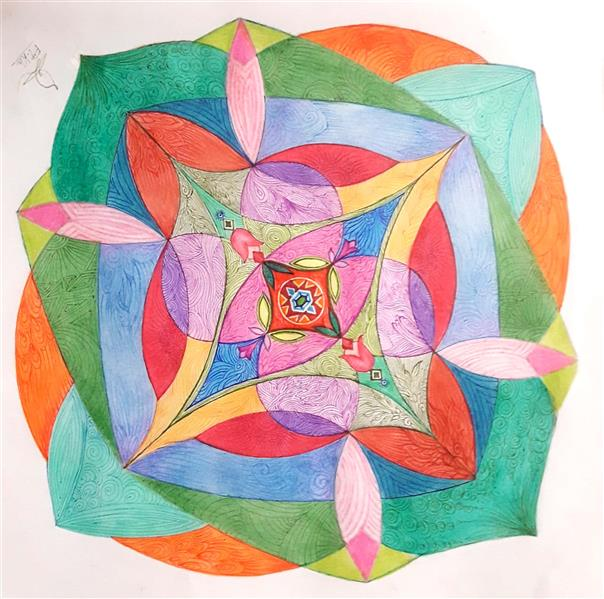 هنر نقاشی و گرافیک محفل نقاشی و گرافیک Fatemeh khonamri #مداد رنگی و روانویس رنگی