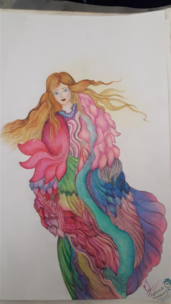 هنر نقاشی و گرافیک محفل نقاشی و گرافیک فاطمه خونمری #مداد رنگی #تخیلی
