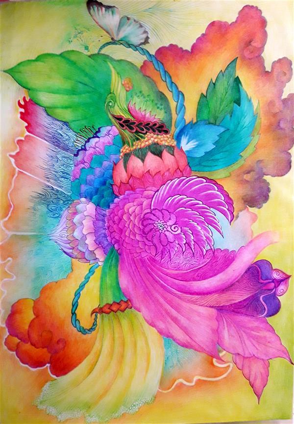 هنر نقاشی و گرافیک محفل نقاشی و گرافیک فاطمه خونمری #مداد رنگی و خودکار رنگی