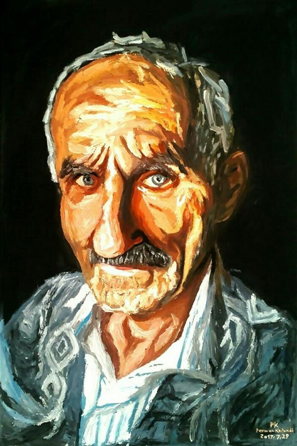 هنر نقاشی و گرافیک محفل نقاشی و گرافیک peyman_karandi_art نام تابلو : پرتره پیرمرد گیلک تکنیک:اکرلیک سبک: امپرسیون ابعاد:۴۰×۶۰ #پرتره #امپرسیونیسم #نقاشی #چهره #اکرلیک