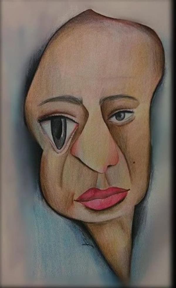 هنر نقاشی و گرافیک محفل نقاشی و گرافیک فرشته علیجانی بدون عنوان #ابعاد  29.7*42 #مدادرنگی #سورئال
