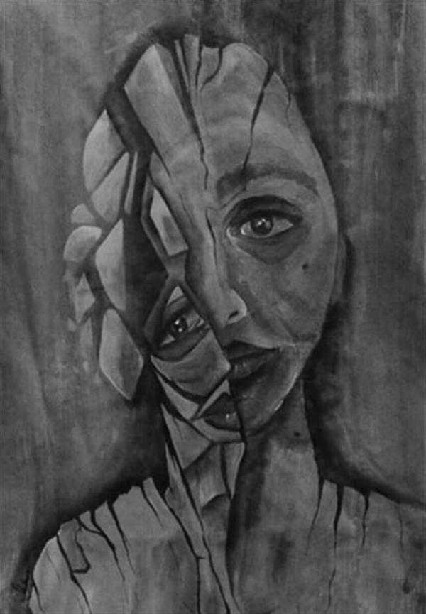 هنر نقاشی و گرافیک محفل نقاشی و گرافیک فرشته علیجانی شکست در تاریکی است و بس... #تکنیک : #اکرلیک روی پارچه #ابعاد  55*45 #سورئال