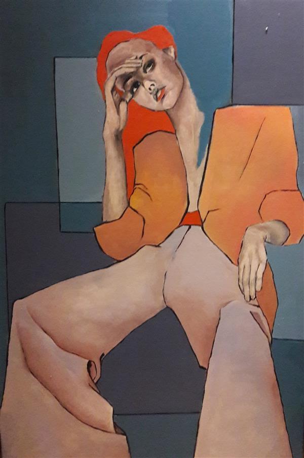 هنر نقاشی و گرافیک محفل نقاشی و گرافیک Kosar niik تکنیک رنگ روغن  سبک مدرن  سایز100cm *150cm
