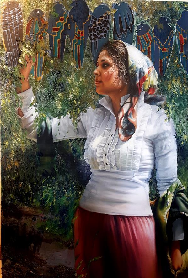 هنر نقاشی و گرافیک محفل نقاشی و گرافیک شکوفه کریمی #oilcolor#oilpainting رنگ روغن روی بوم اثر شکوفه کریمی  ابعاد ۱۲۰×۹۰