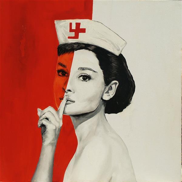 هنر نقاشی و گرافیک محفل نقاشی و گرافیک سینا فرج نژاد از مجموعه ی سه پرستار متریال رنگ روغن ابعاد ۵۰ در ۵۰ cm
