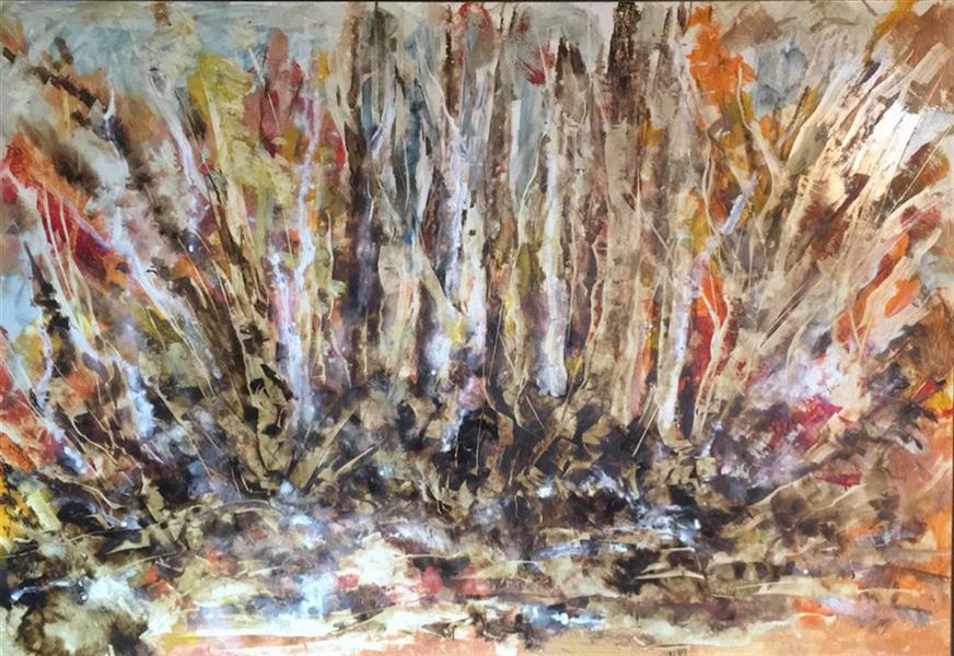 هنر نقاشی و گرافیک محفل نقاشی و گرافیک Shalman Art Gallery #بهروزبلوری رنگ روغن و قیر روی چوب