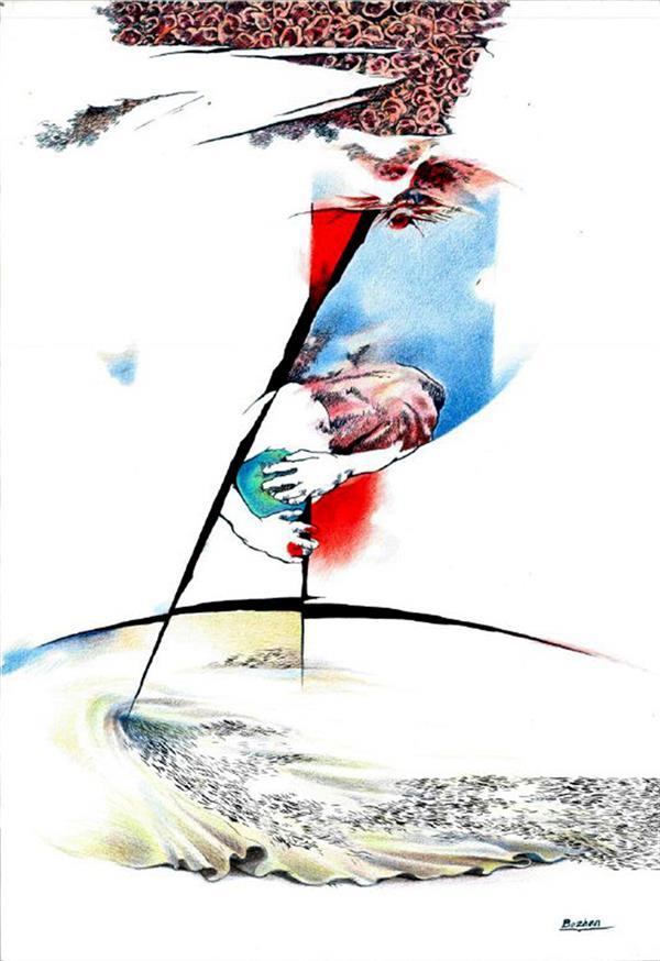 هنر نقاشی و گرافیک محفل نقاشی و گرافیک بوژان رحیمی رنگ و روغن روی بوم#۵۰×۷۰ سانتیمتر #به همراه قاب و پاسپارتو