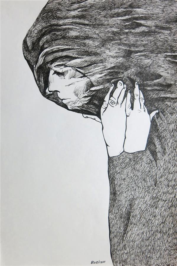 هنر نقاشی و گرافیک محفل نقاشی و گرافیک بوژان رحیمی طراحی روی مقوا#A3#به همراه قاب و پاسپارتو