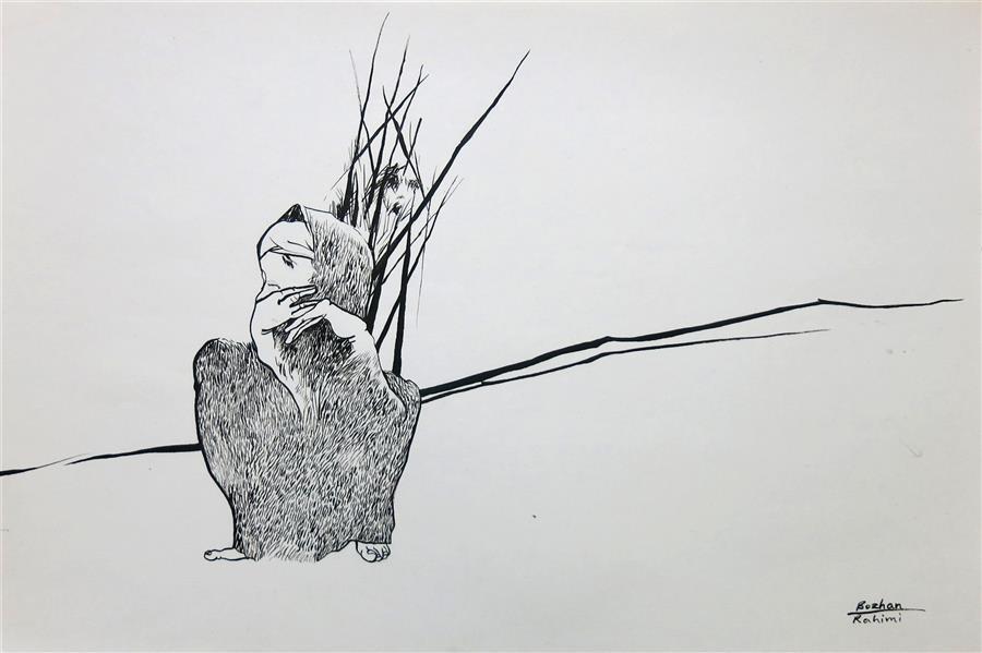 هنر نقاشی و گرافیک محفل نقاشی و گرافیک بوژان رحیمی طراحی روی مقوا#A3 # به همراه قاب و پاسپارتو
