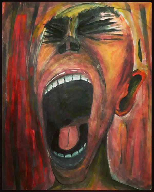 هنر نقاشی و گرافیک محفل نقاشی و گرافیک Mansur Eslami watercolor on paper - 65*45
