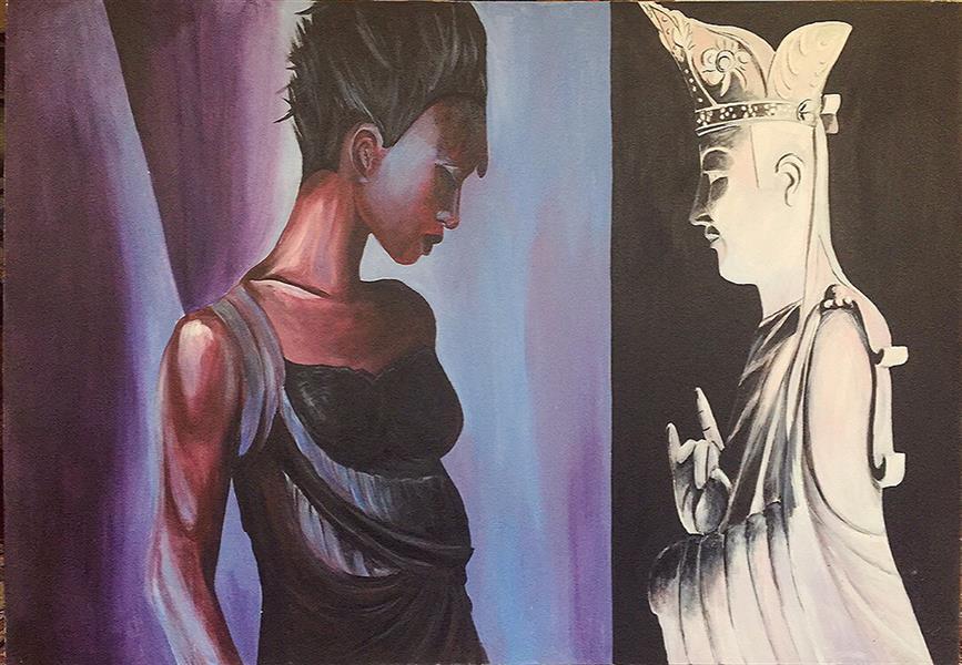 هنر نقاشی و گرافیک محفل نقاشی و گرافیک Ca9l2 #تناقض #زنانگی من با فرومایگی عهر #عتیق #هوس در لحظه جاریست خاطره پوچ میشود
