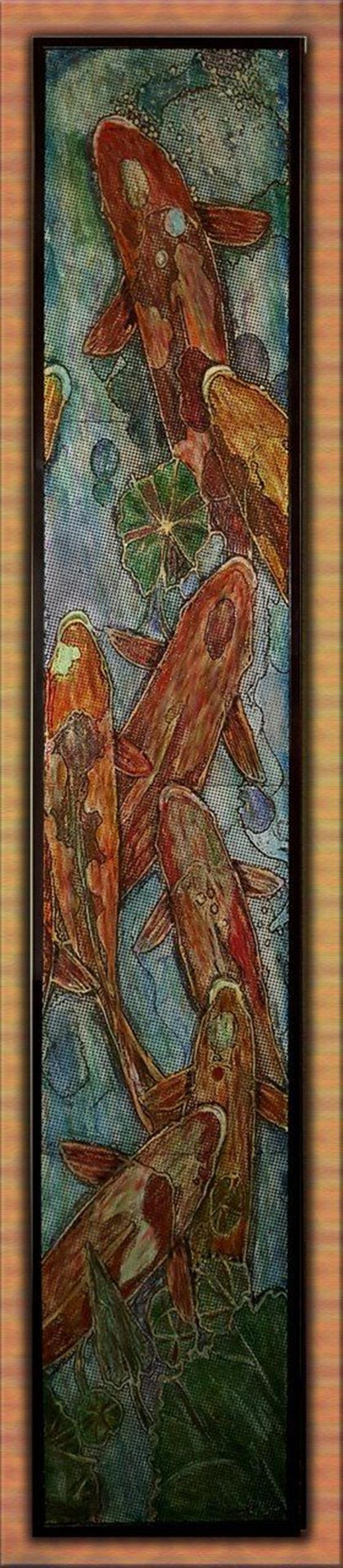 هنر نقاشی و گرافیک محفل نقاشی و گرافیک سعید علیخانی تابلوی نقاشی برجسته با تکنیک حکاکی نقاشی با اکرولیک و  ترکیب مواد در ابعاد == ۳۵در۱۸۰ سانت #آبستره  #نقاشی مدرن #دکوراتیو #بوم
