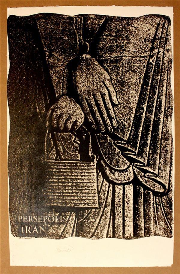هنر نقاشی و گرافیک محفل نقاشی و گرافیک سعید علیخانی چاپ دستی  ابعاد ۳۵در۵۵ سانت