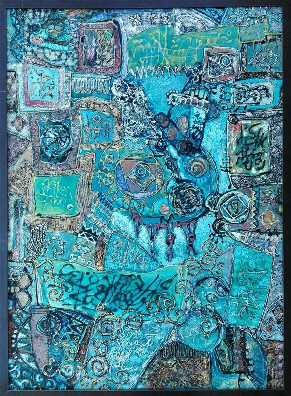 هنر نقاشی و گرافیک محفل نقاشی و گرافیک ستاره سلیقه زاده 120*175cm نام اثر :انگاره نگارها ترکیب مواد روی بوم #سبک_انتزاعی