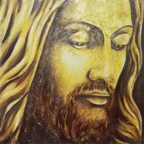 هنر نقاشی و گرافیک محفل نقاشی و گرافیک حسین جعفری #رنگ و روغن#مسیح