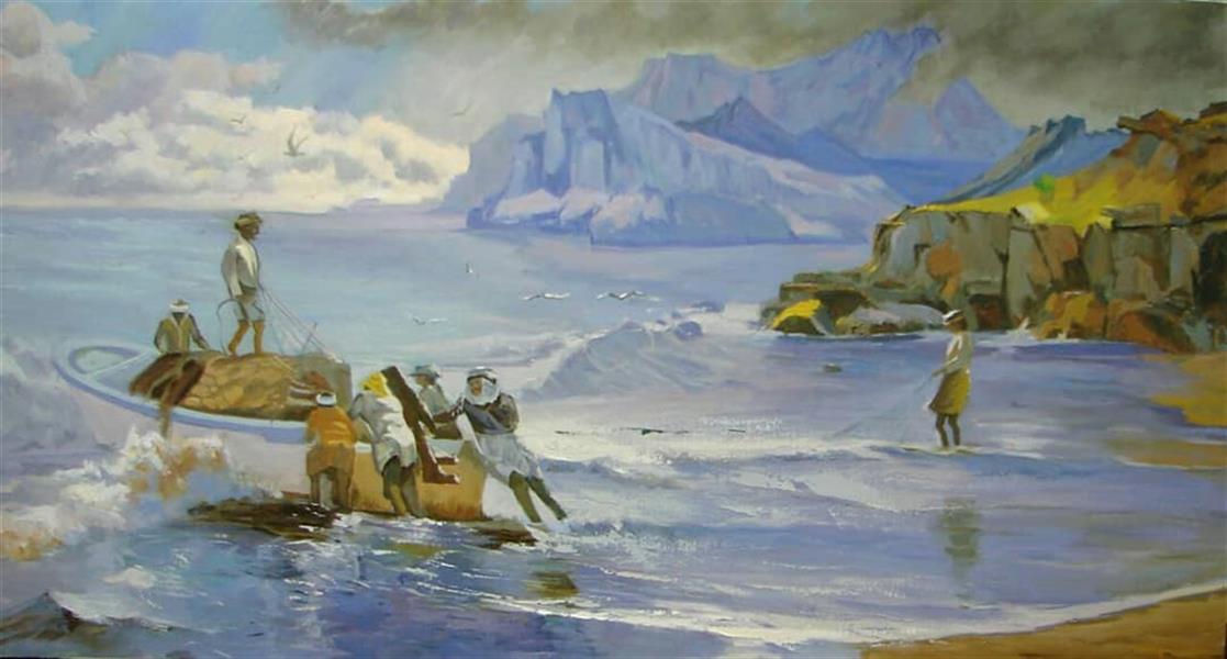 هنر نقاشی و گرافیک محفل نقاشی و گرافیک maryam-mp #دریا #اندازه: ۶۰*۸۰ #تکنیک : رنگ روغن