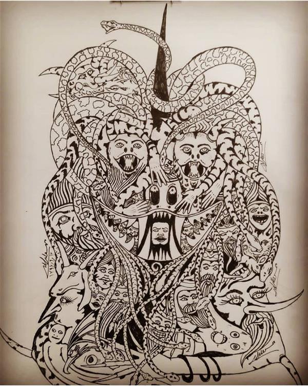 هنر نقاشی و گرافیک محفل نقاشی و گرافیک محسن الله مرادی اثر محسناللهمرادی  طراحی مفهومی  نقاشی ذهنی تجسمی  کارشده با راپید